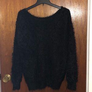 Warm, furry, black sweater